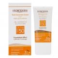 کرم ضد آفتاب کرم پودری فاقد چربی SPF50 هیدرودرم (بژ طبیعی)