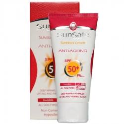 کرم ضد آفتاب ضد چروک SPF50 بدون رنگ سان سیف