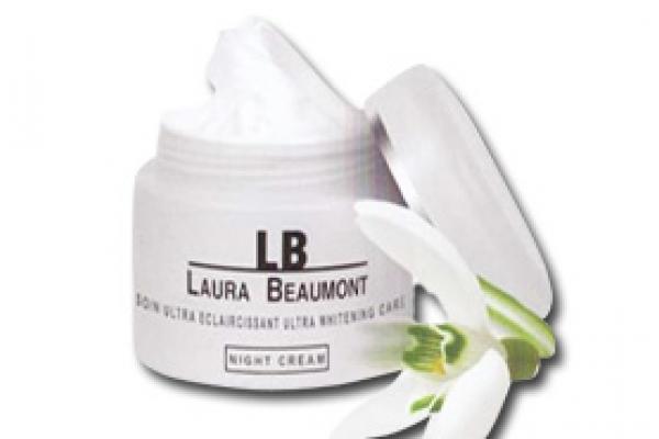 کرم سفید کننده شب(صورت و گردن) لورابیامونت