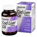 روغن کبد ماهی هلث اید Cod Liver Oil تعداد 90تایی