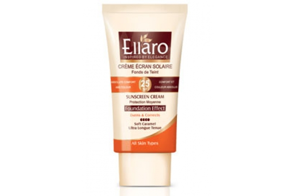 کرم ضد آفتاب رنگیSPF25 الارو ELLARO کارامل