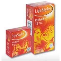 کاندوم 12 عددی RIBBED لایف استایل
