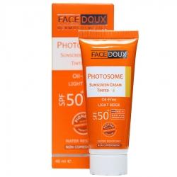 کرم ضد آفتاب فاقد چربی فوتوزوم SPF50 فیس دوکس بژ روشن