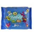 دستمال مرطوب پاک کننده کودک نینو 20 عددی (مدل کارتونی)