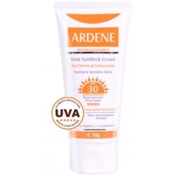 کرم ضد آفتاب فاقد جاذب های شیمیایی SPF30 رنگی آردن